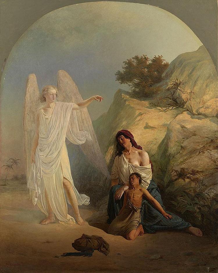 FADEEV, VLADIMIR 1846-? Biblical Scene signed.