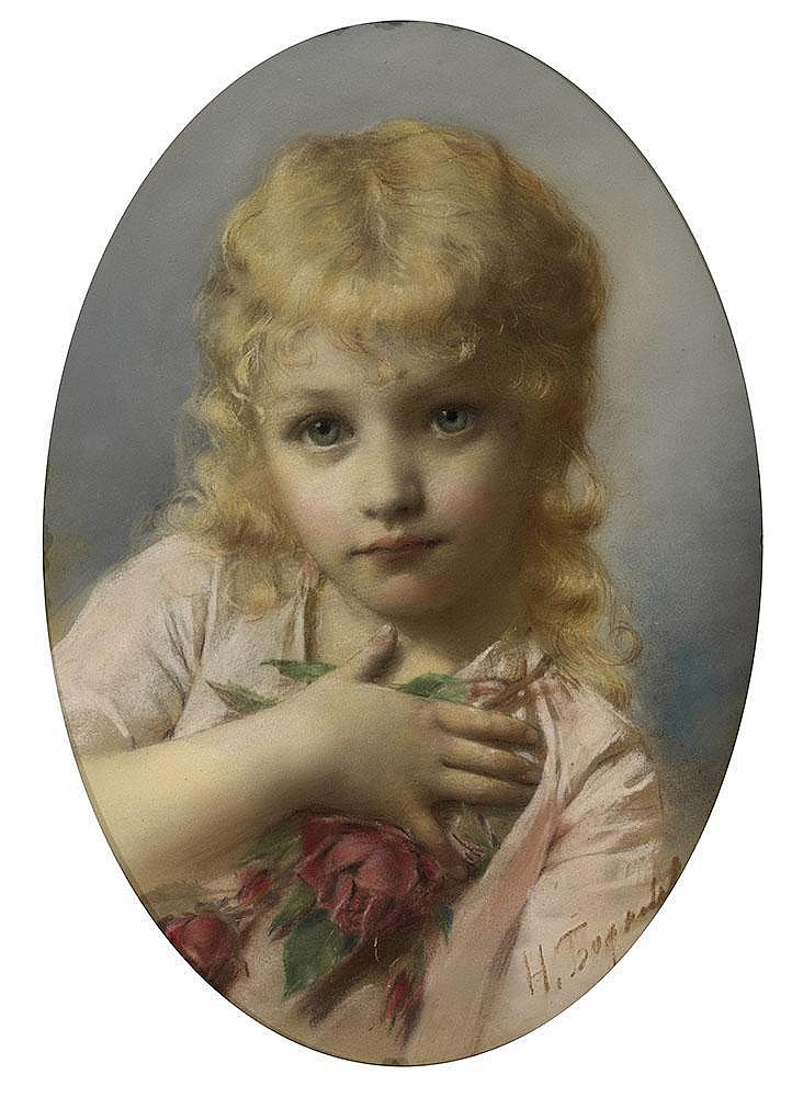 BODAREWSKY, NIKOLAI 1850-1921 Portrait of a Girl