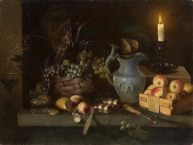 KHRUTSKY, IVAN 1810-1885 Still Life with Candle