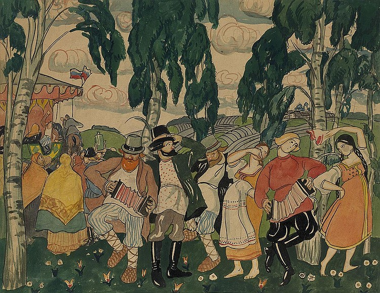 LATRI, MIKHAIL 1875-1942 Russian Dance signed.