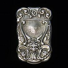 American Silver Match Safe