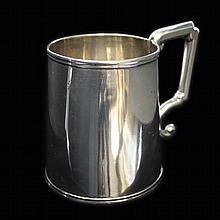 Jones Hall & Poor Coin Silver Mug