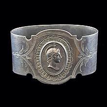 Silver Medallion Napkin Holder