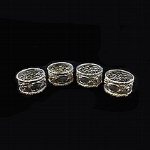 Set of Four Stieff Sterling Napkin Rings