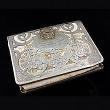 Vintage Leather & German Silver Wallet