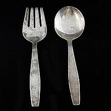 Towle Sterling Baby Fork and Spoon Set