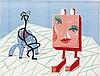 David Hockney, Celia with Guest, July 1986, Museum of Contemporary Art Tokyo 294, David Hockney, ¥0