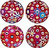 Takashi Murakami, Groping for the Truth/ Flowerball (3D) - Blue, Red/ Flowerball (3D) - Red, Pink, Blue/ Comprehending the 51st Dimension, Takashi Murakami, ¥0