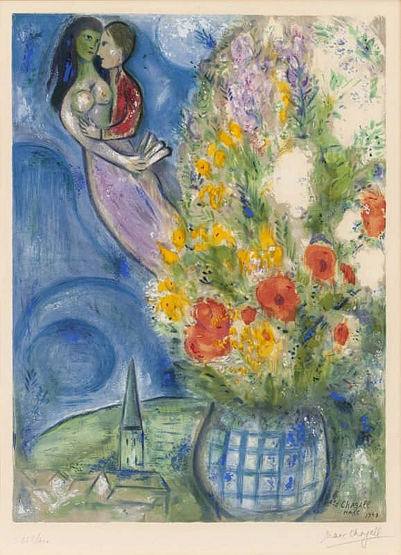 Marc Chagall (After), Corn poppy by Charles Sorlier (Mourlot Charles Sorlier 2)