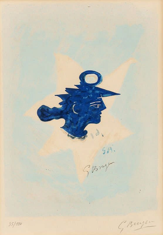 Georges Braque (After), Tête grecque (illustrated on Vallier P.298)