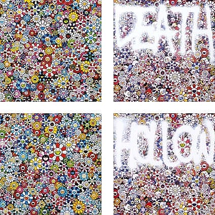 Takashi Murakami, The Future will Be Full of Smile! For Sure!/ Flowers with Smiley Faces/ DEATH : Multicolor/ HOLLOW : Multicolor