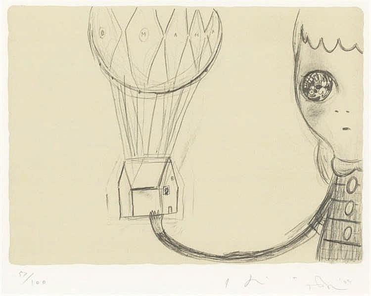 Yoshitomo Nara, Untitled (Omaha), in collaboration with Hiroshi Sugito (Bijutsu Shuppan-sha Vol.1 EC-2005-001)