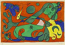 Joan Miró, Pl.10 from 'Suites pour Ubu Roi' (Maeght 421/ Cramer Books 108)