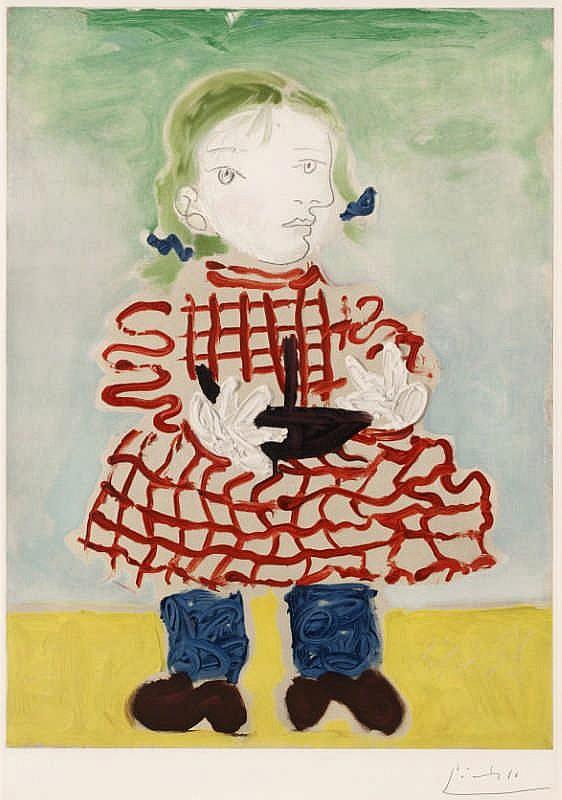 Pablo Picasso (After), Portrait de Maya au bateau