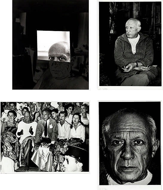 André Villers, four photographs of Picasso by Villers