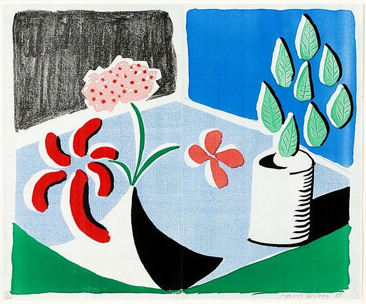 David Hockney, Red Flowers and Green Leaves (Not in Museum of Contemporary Art Tokyo)