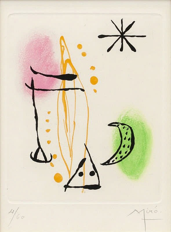 Joan Miró, Pl.3 from 'Suite La Bague d'Aurore' (Dupin 124/ Cramer Books 45)