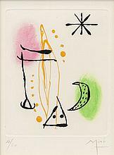 Joan Miró, Pl.3 from 'Suite La Bague d'Aurore' (Dupin 124/ Cramer Books 45)