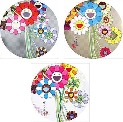 Takashi Murakami, Warhol/ Silver/ Flowers for Algernon/ Even the Digital Realm Has Flowers to Offer!