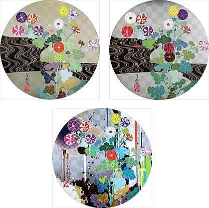 Takashi Murakami, Kansei Korin Gold/ Kansei/ With Reverence, I Lay Myself Before You - Korin - Chrysanthemum