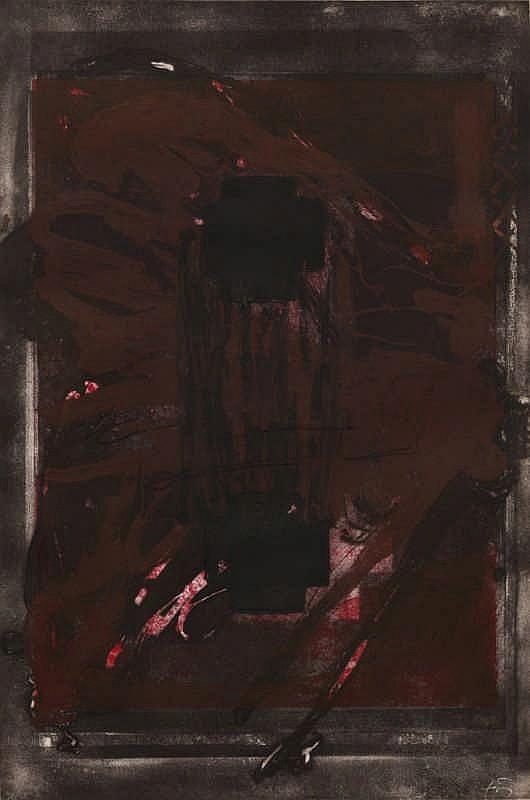 Antoni Tàpies, Symetrique Noir (Galfetti 957)
