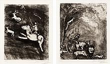 Marc Chagall, Pl.45 and Pl.62 from 'The Fables of La Fontaine' (Cramer Books 22)