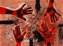 Rufino Tamayo, Hands in Red (Pereda 263)