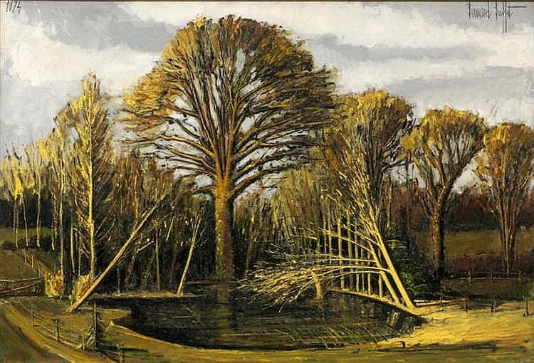 Bernard Buffet, Villiers-le-Mahieu, La mare et le grand chêne