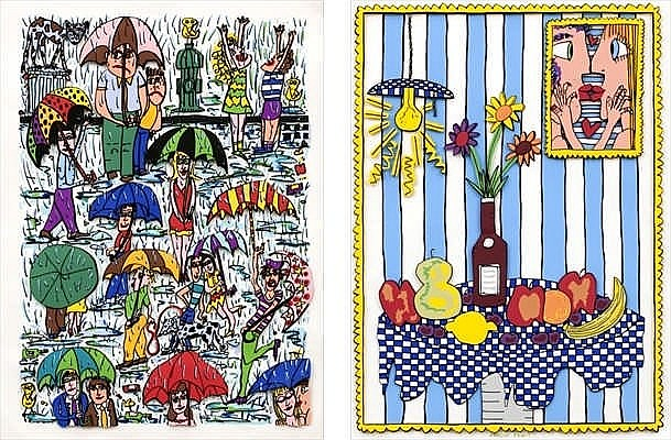 James Rizzi, RAIN/ PASSION FRUIT (BLUE)