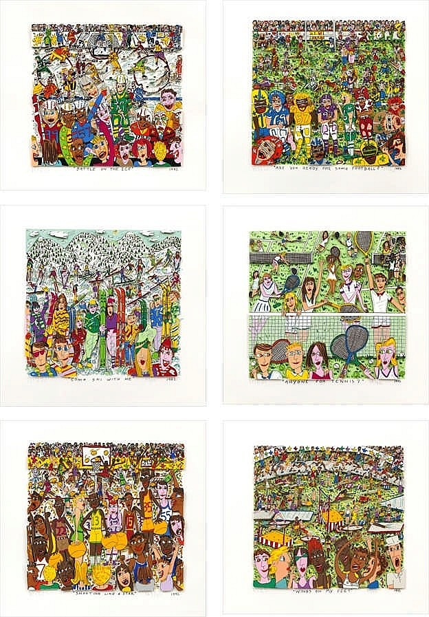 James Rizzi, six screenprints by Rizzi