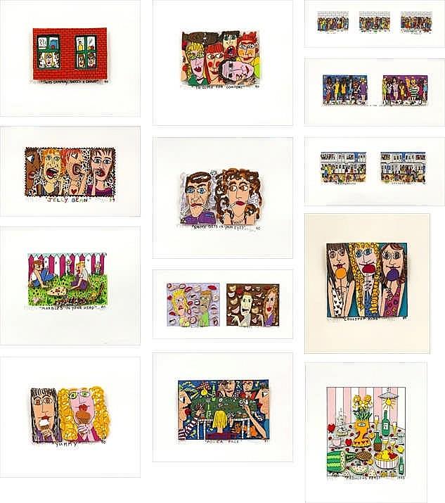 James Rizzi, thirteen prints by Rizzi