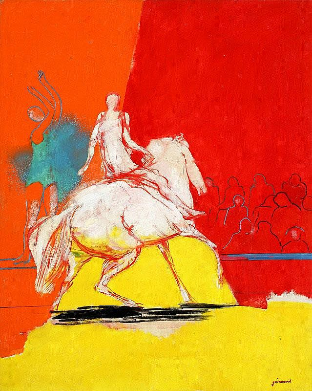Paul Guiramand, Un Cheval de course: oil on