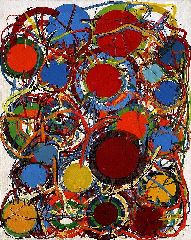 Atsuko Tanaka, Untitled: enamel paint on canvas,