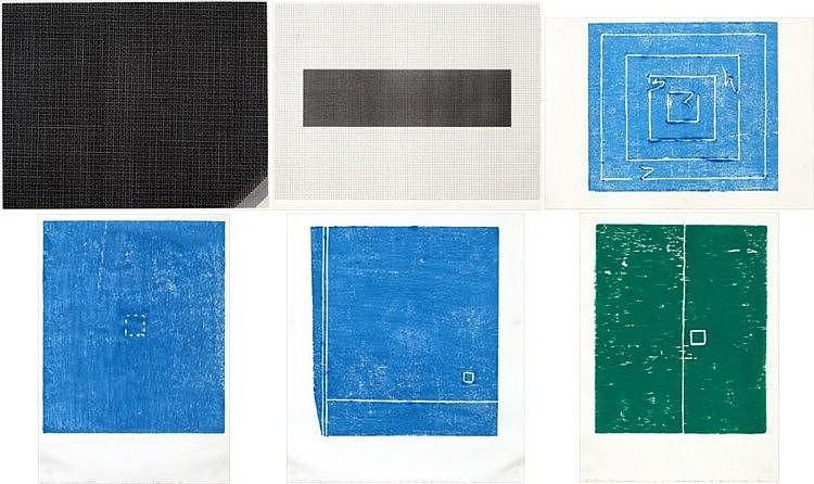 Kishio Suga, Shu-chi/ Kai-chi/ Kaikei = 5/ Compartire il podere - 10/ Boundary of the Depth 2/ Paesaggio le paia - 104 (set of 6)