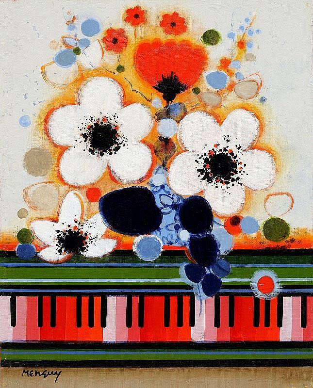 Frederic Menguy, Le feuillage bleu: oil on canvas,