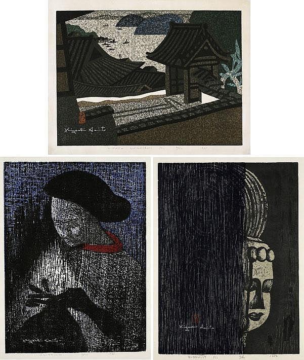 Kiyoshi Saito, Hirato Nagasaki (A)/ Knitting/ Buddhist (C) (set of 3)