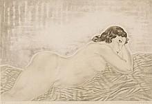 Tsuguharu Foujita, Femme blonde allongee (Buisson II.30.76)