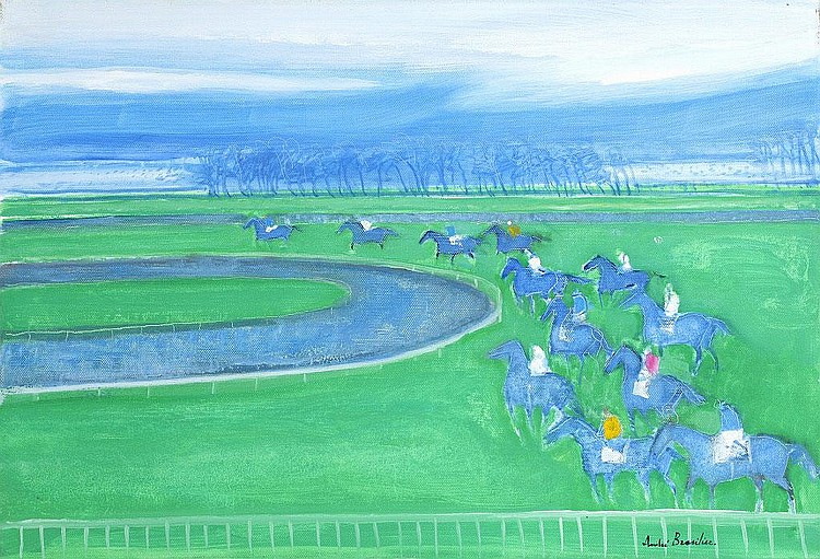 Andre Brasilier, Courses a Cagnes sur Mer oil on