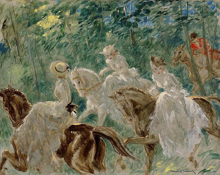 Louis Icart, En foret oil on canvas, signed (lower