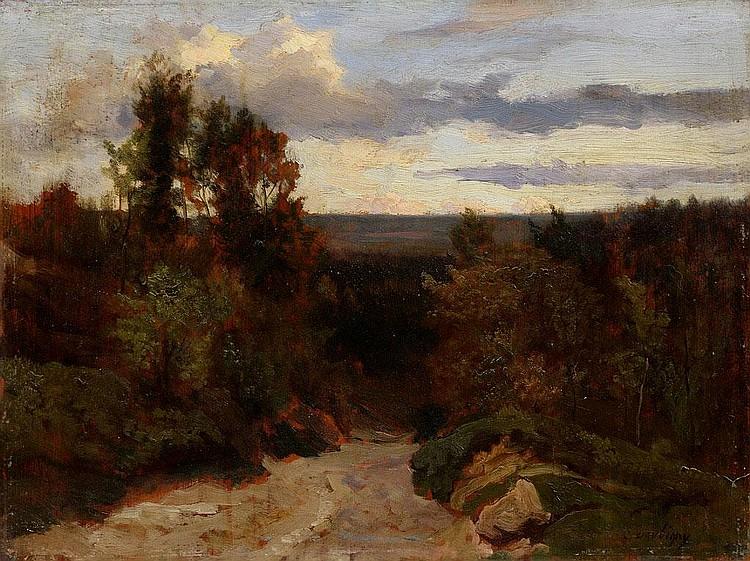 Charles Francois Daubigny, Landscape oil on