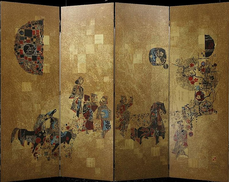 Lebadang, Four Panel Screen