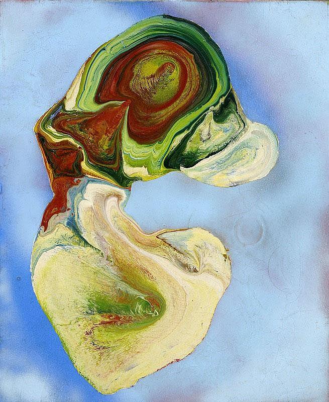 Shozo Shimamoto, Uzumaki enamel paint on canvas,
