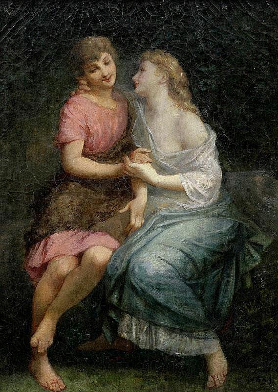 Henri Pierre Picou, Figures oil on canvas, painted