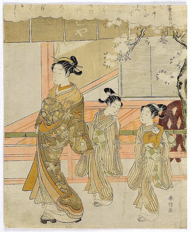 Harunobu Suzuki, Dignitary Ariwara no Narihira,