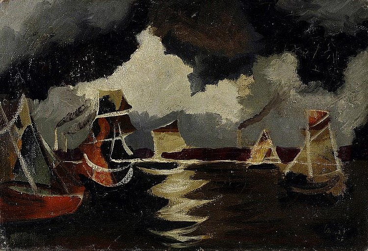 Jean Lurcat, Fishing Boats oil on canvas, painted