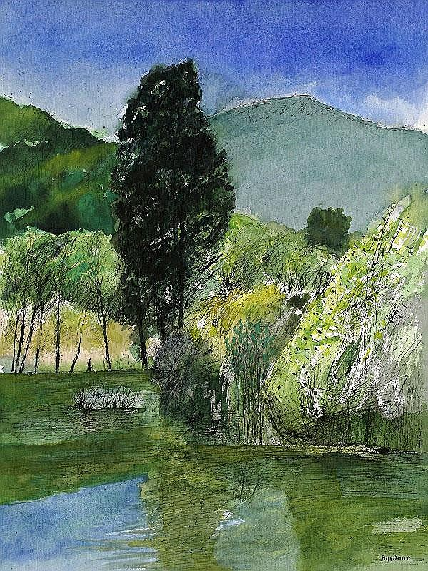 Guy Bardone, Reflets June watercolour and ink on