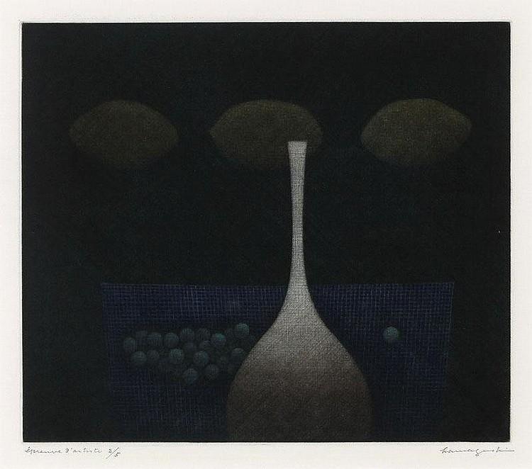 Yozo Hamaguchi, Bottle and Lemons (Chuo Koron Bijutsu Shuppan 52)