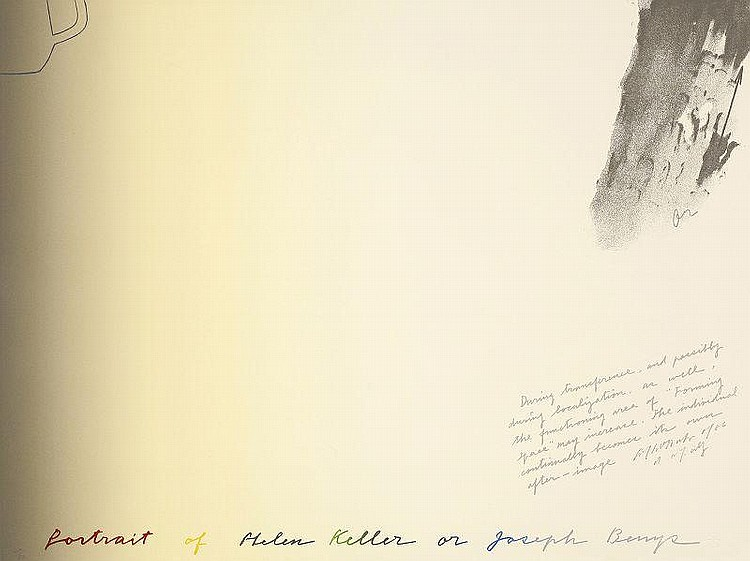 Shusaku Arakawa, Portrait of Hellen Keller or Joseph Beuys