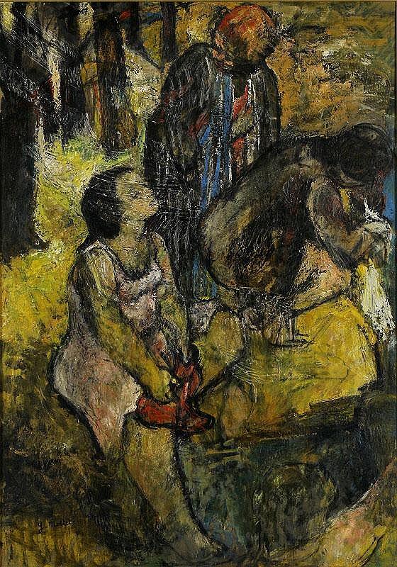 Yvonne Mottet, Les Lavandieres