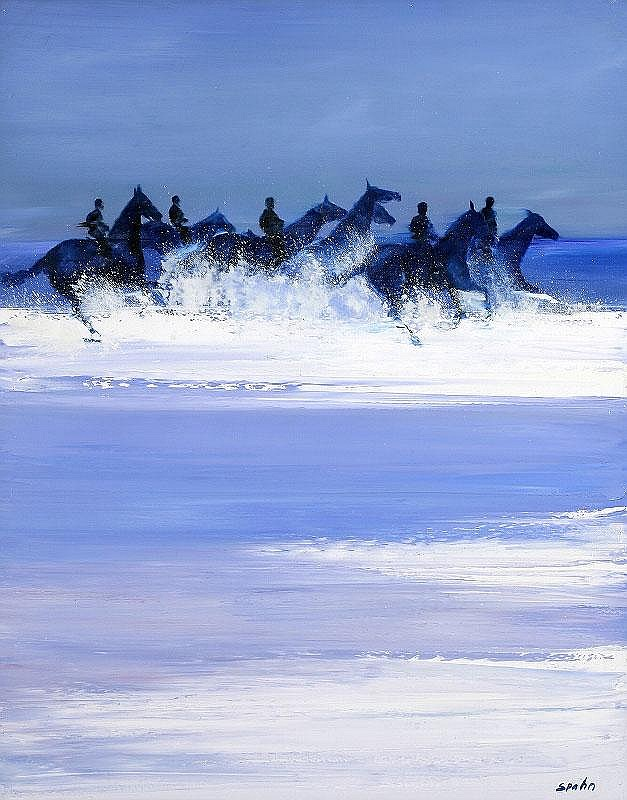 Victor Spahn, Chevaux dans la mer